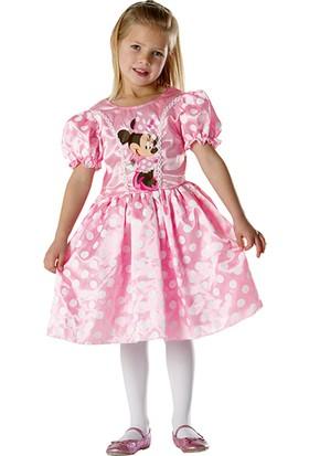 Lisanslı Minnie Puantiyeli Pembe Kostüm S Beden 3-4 Yaş
