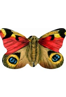 Mats Dekoratif Paspas 50X80 Renkli Kelebek