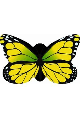 Mats Dekoratif Paspas 50X80 Sarı Kelebek
