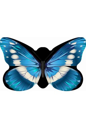 Mats Dekoratif Paspas 50X80 Mavi Kelebek