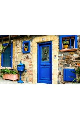 Mats Dekoratif Paspas 40X70 Mavi Kapı