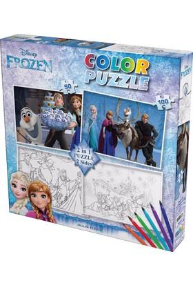 Gepettoys Frozen Puzzle Boyamalı 50 Parça+100 Parça