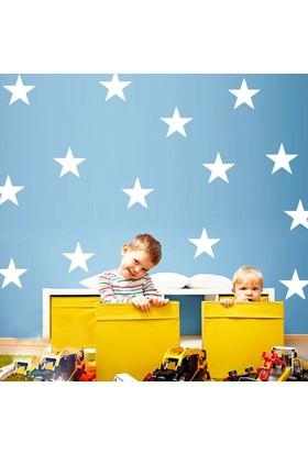 Decolight Büyük Boy Beyaz Yıldız Sticker