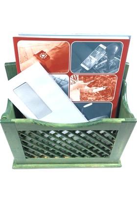 İdea Fıstık Yeşil El Yapımı Çam Ağacı Posta Kutusu (28 x 28 Cm)