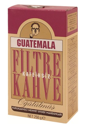 Mehmet Efendi Guatemala Filitre Kahve 250 gr (Kafeinsiz)