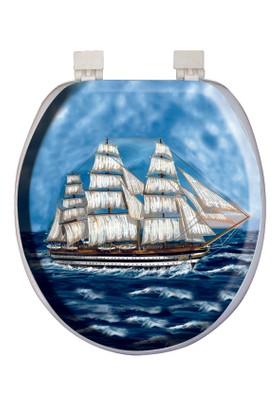 Softy Classic Süngerli Desenli Klozet Kapağı 1141 Gemi Desenli