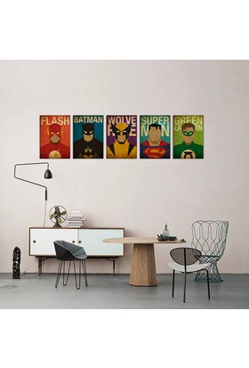 Javvuz Süper Kahramanlar - 5 Adet Metal Poster