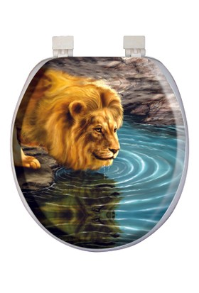 Softy Classic Süngerli Desenli Klozet Kapağı 1043 Aslan Desen