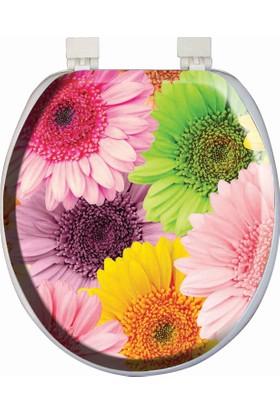 Softy Classic Süngerli Desenli Klozet Kapağı 3282 Çiçek Desenli