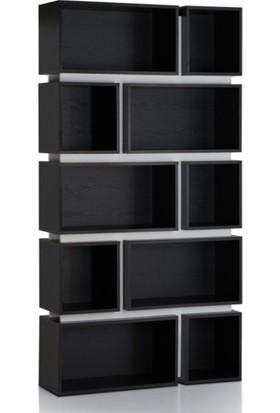 Wood Design Hareli Meşe Kaplama Kitaplık WD002