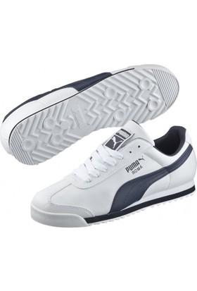 Puma 35357212 Roma Basic White-New Navy Spor Ayakkabı