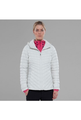The North Face Thermoball Hoodie Kadın Mont Beyaz/Gri