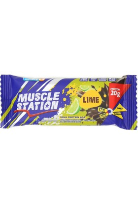 Musclestation 65Gr Protein Bar (Whey & Casain) Lime
