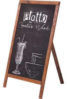 Platto Creative Works Ayaklı Yazı Tahtası, Menü Tahtası, Kapı Önü Kara Tahta