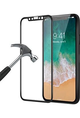 Ligovi Apple iPhone X 6D Tam Kaplayan Kavisli Cam Ekran Koruyucu