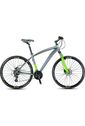 Kron TX 300 Trekking Bisikleti 28''Jant 18' Kdr 24 Vites Hidrolik Disk Fren Füme-Yeşil