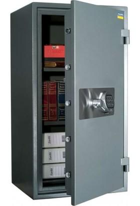 Valberg Garant 95 Anahtar ve Elektronik Şifreli Yangın Güvenlik Sertifikalı Çelik Kasa