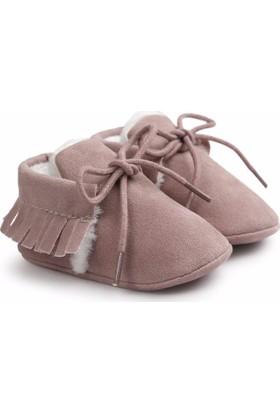 Romirus Bebek Ayakkabı Makosen Kürklü Vişne Çürüğü