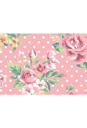 Cushion Design 4'Lü Flower Pink Amerikan Servis