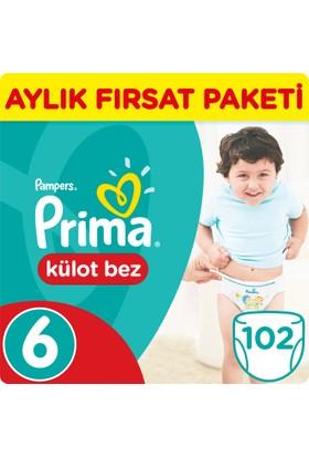 Prima Pants Külot Bebek Bezi 6 Beden Ekstra Large Aylık Fırsat Paketi 102 Adet
