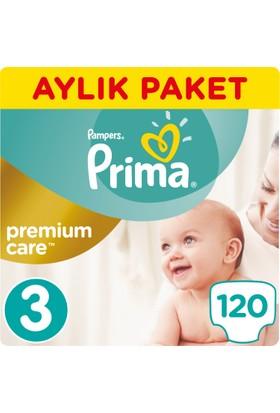 Prima Bebek Bezi Premium Care 3 Beden Midi Aylık Paket 120 Adet