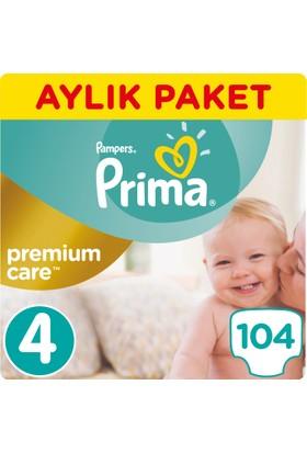 Prima Bebek Bezi Premium Care 4 Beden Maxi Aylık Paket 104 Adet