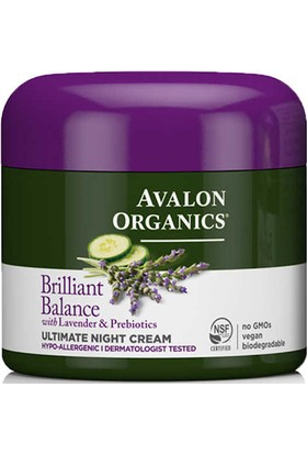 Avalon Organics Brilliant Balance Ultimate Gece Kremi 57GR