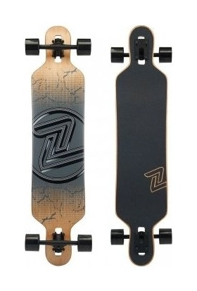 "Z-Flex Longboard Drop Thru Cracked Black 41"" Kaykay"
