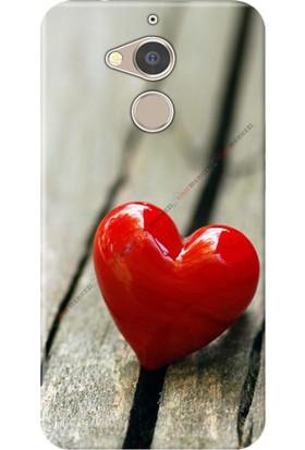 Kılıf Merkezi General Mobile GM8 Kılıf Silikon Baskılı Kırmızı Kalp STK:128