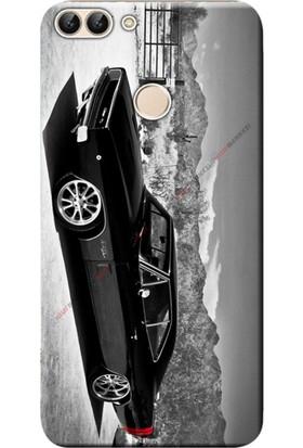 Kılıf Merkezi Huawei P Smart Kılıf Silikon Baskılı Dodge Charger STK:289