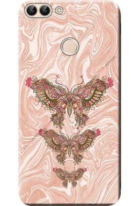 Kılıf Merkezi Huawei P Smart Kılıf Silikon Baskılı Kelebek Resim STK:552