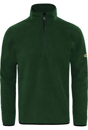 GriSport Nefti Yeşil Erkek Yarım Fermuarlı Spor Polar