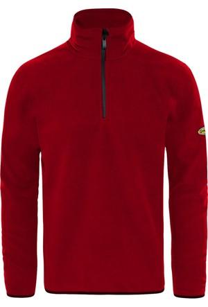 GriSport Kırmızı Erkek Yarım Fermuarlı Spor Polar
