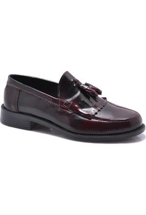 Corcuk Bordo Kolej Rugan Ayakkabı