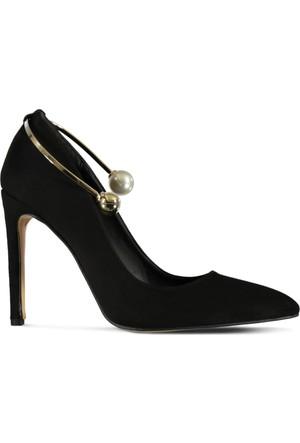 Marjin Orhil Topuklu Ayakkabı Siyah Süet
