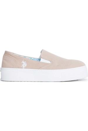U.S. Polo Assn. Kadın Y7Elsie Ayakkabı Bej