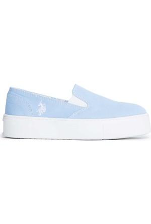 U.S. Polo Assn. Kadın Y7Elsie Ayakkabı Mavi
