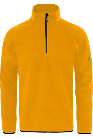 GriSport Sarı Erkek Yarım Fermuarlı Spor Polar