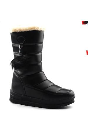 Twingo 990 Siyah Kar Çizme Bayan Bot Ayakkabı