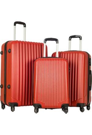 Escape Valiz Set Escabs2019-Valiz Set Kırmızı