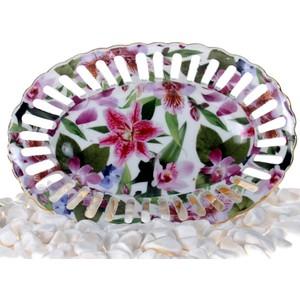 ancel xllc0359-s delikli porselen oval çikolatalık orkide