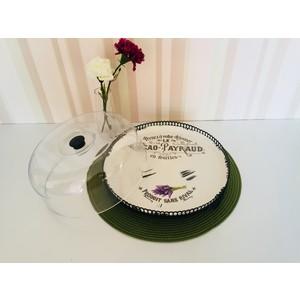 d-sign home lilla desen kek fanusu büyük