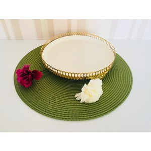 d-sign home gold lux sunum tabağı orta