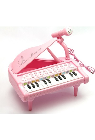 Vardem Oyuncak 1505B Kutulu 3 Ast.Küçük Piyano / Pembe