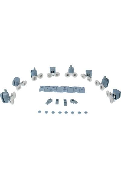 KG-Part Duşakabin Tekerleği Tam Set Plastik