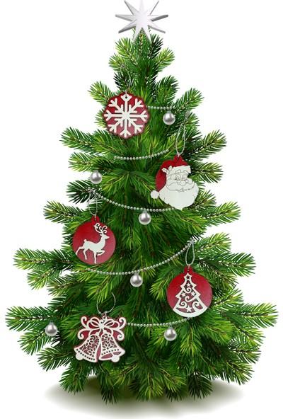 Yılbaşı Ağaç Süsü 21'Li Paket