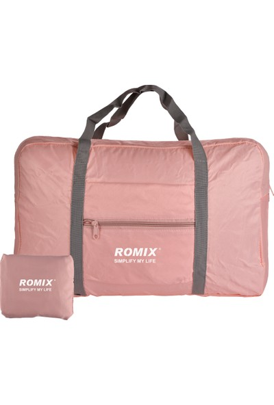 Romix Taşınabilir ve Katlanabilir Seyahat Çantası- Pembe