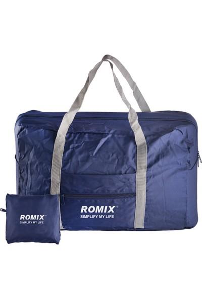 Romix Taşınabilir ve Katlanabilir Seyahat Çantası- Koyu Mavi