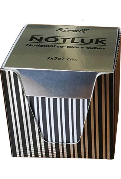 Direkt-Al Kutulu Küp Notluk Metalize Karton Kutulu Siyah