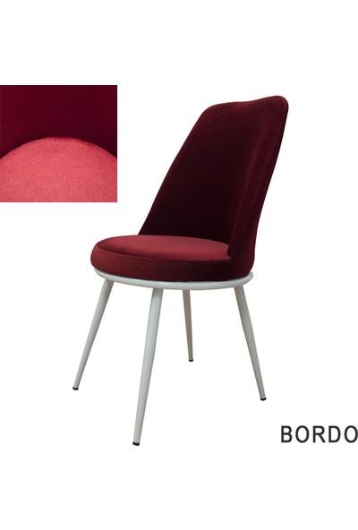 Şato Sandalye Kumaş Mutfak Sandalyesi Bordo